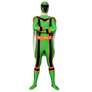 Green Dinosaur Soldier Lycra Spandex Superhero Zentai Suit