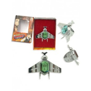Green Katekyo Hitman Reborn Simon Family Ring Set