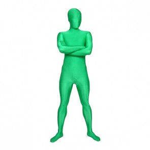 Green Unicolor Full-Body Lycra Spandex Zentai Suit
