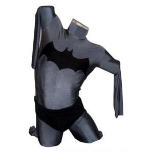 Grey Lycra Spandex No Hood Superhero Zentai Suit