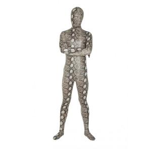 Grey Snakeskin Lycra Spandex Zentai Suit
