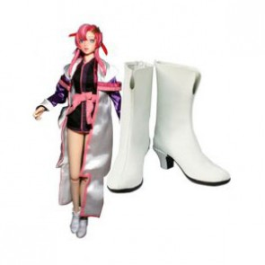 Gundam Seed Lacus Clyne Imitation Leather Cosplay Boots