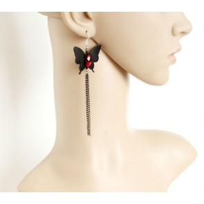 Handmade Butterfly Women Lolita Earrings