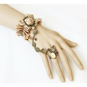 Handmade Victorian Style Rose Lolita Bracelet And Ring Set