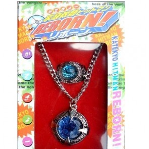 Katekyo Hitman Reborn Alloy Cosplay Necklace Ring Set