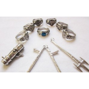 Katekyo Hitman Reborn Alloy Cosplay Weapon Ring Set