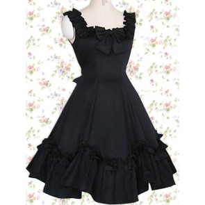 Black Sleeveless Bow Classic Lolita Dress