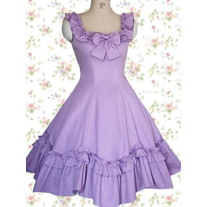 Purple Sleeveless Ruffles Bow Classic Lolita Dress