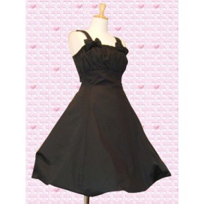 Black Sleeveless Empire Waist Classic Lolita Dress