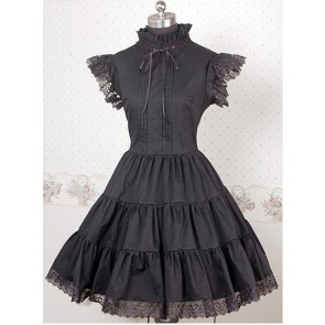 Black Sleeveless Frills Lace Lolita Dress