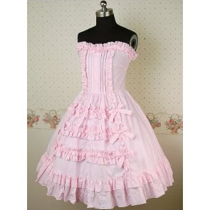Pink Sleeveless Lovely Bow Lolita Dress