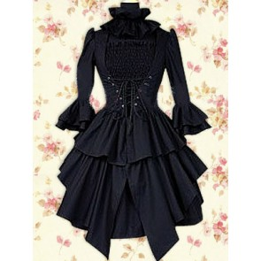 Black Long Sleeves Punk Lolita Dress