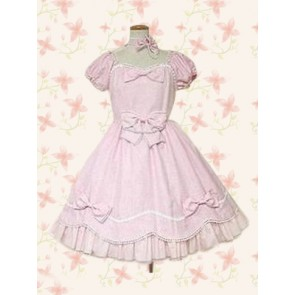 Pink Short Sleeves Sweet Bow Lolita Dress