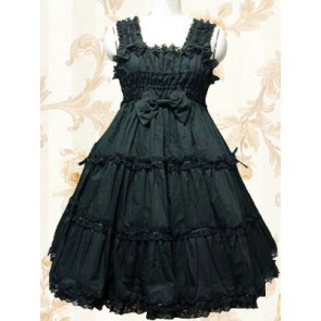 Black Sleeveless Ruffle Sweet Lolita Dress