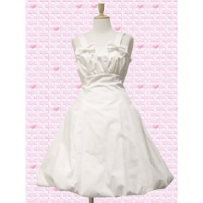 White Sleeveless Bow Sweet Lolita Dress