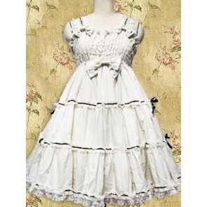 White Sleeveless Ruffle Sweet Lolita Dress