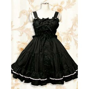 Sweet Black Sleeveless Ruffle Lolita Dress