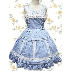 Blue Sleeveless Lace Sweet Lolita Dress