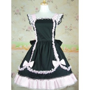 Black Lace Bow Sweet Lolita Dress