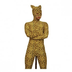 Leopard Spots Male Full Body Lycra Spandex Zentai Suit