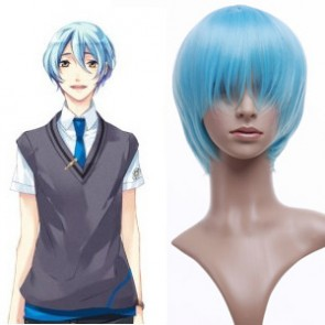 Light Blue 32cm Starry Sky Kanakubo Homare Cosplay Wig