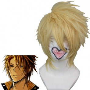 Light Gold 32cm Amnesia Toma Cosplay Wig