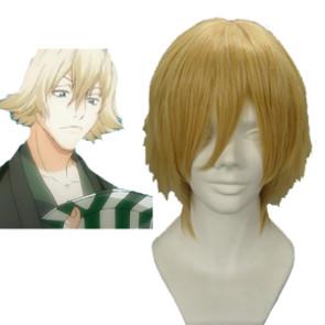 Light Gold 32cm Bleach Urahara Kisuke Cosplay Wig