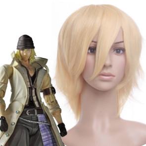 Light Gold 32cm Final Fantasy 13 Snow Nylon Cosplay Wig