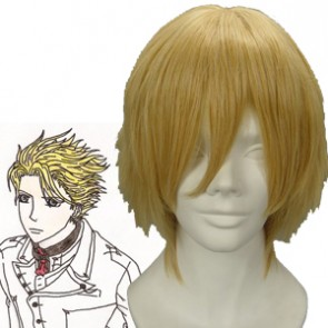Light Gold 32cm Vampire Knight Hanabusa Aido Cosplay Wig