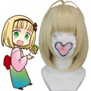 Light Gold 40cm Ao No Exorcist Shiemi Moriyama Cosplay Wig