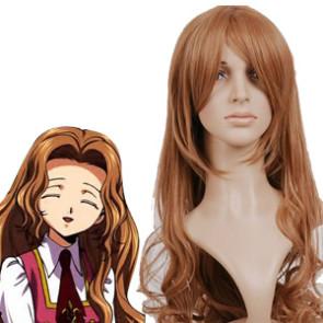 Light Golden 90cm Code Geass Nunnally Vi Britannia Nylon Cosplay Wig