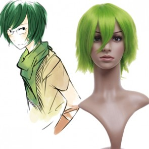 Light Green 32cm Katekyo Hitman Reborn! Aoba Koyo Nylon Cosplay Wig