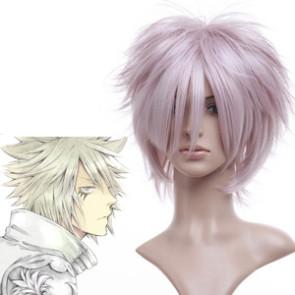 Light Pink 35cm Katekyo Hitman Reborn! Byakuran Nylon Cosplay Wig