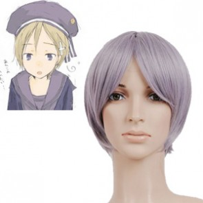 Light Purple 32cm Axis Powers Hetalia Norway Nylon Cosplay Wig