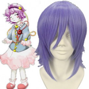 Light Purple 32cm Tonhou Project Komeiji Satori Nylon Cosplay Wig