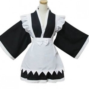 Long Sleeves Cotton Cosplay Maid Costume