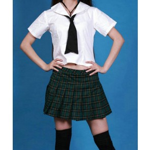 Lovely Short Sleeves Girl School Uniform Cosplay Costume