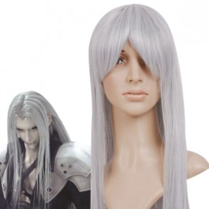 Mixed Silver 80cm Final Fantasy Sephiroth Nylon Cosplay Wig