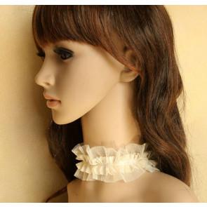 Modern Beige Lace Lolita Neckband