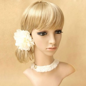 Modern White Lace Girls Lolita Neckband