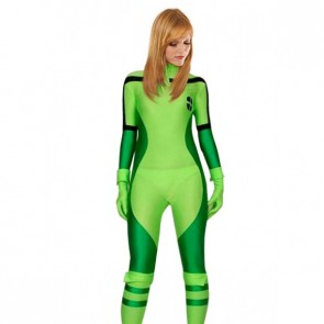 Multi-Green Lycra Spandex Zentai Suit
