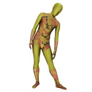 Multicolor Lycra Spandex Camouflage Unisex Zentai Suit