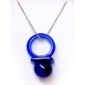 Navy Blue Hitman Reborn Nipple Synthetic Opal Cosplay Necklace