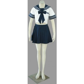 Navy Blue Sexy Short Sleeves Girl School Uniform Cosplay Costume
