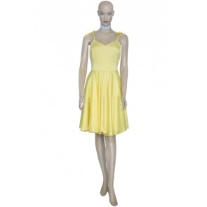 Neon Genesis Evangelion Asuka Yellow Dress Cosplay Costume