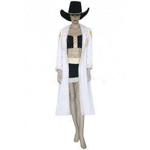 One Piece White & Black Nico Robin Cosplay Costume