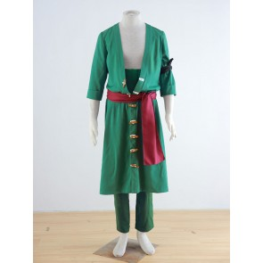 One Piece Roronoa Zoro Cosplay Costume (Green)