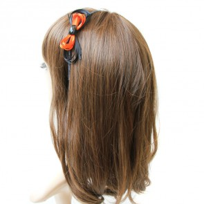 Orange And Black Bow Handmade Lolita Headband