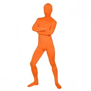Orange Full-Body Lycra Unisex Spandex Zentai Suit