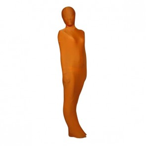 Orange Mummy Style Lycra Spandex Unisex Zentai Suit
